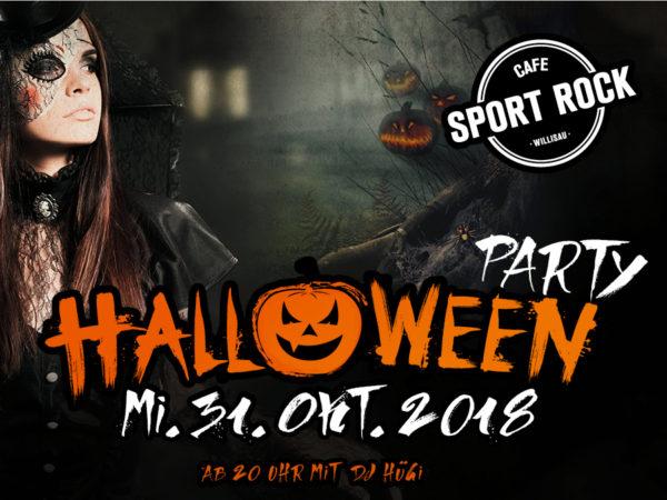 Halloween Party SPORT ROCK Willisau 2018